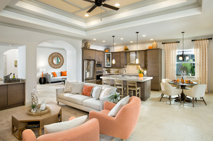 Single-family homes offer a variety of options and premium finishes