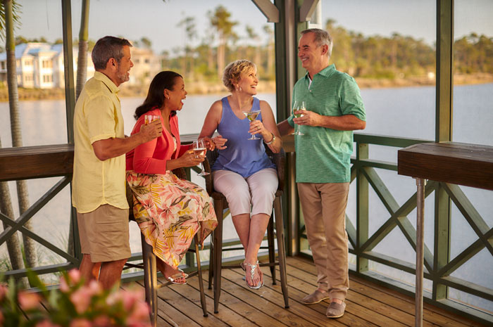 The Overlook Bar & Grill is a great place to enjoy drinks with friends