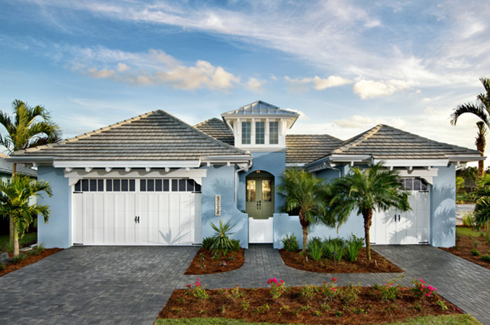 Paver drive and walkway leading up to your new home minutes form Naples Beach (Plumeria Shown)