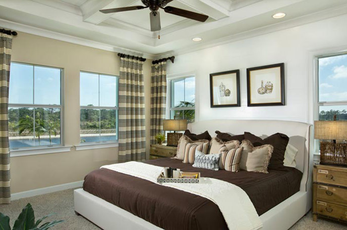 Master bedroom with views of natural waterways (Orchid Grande shown)