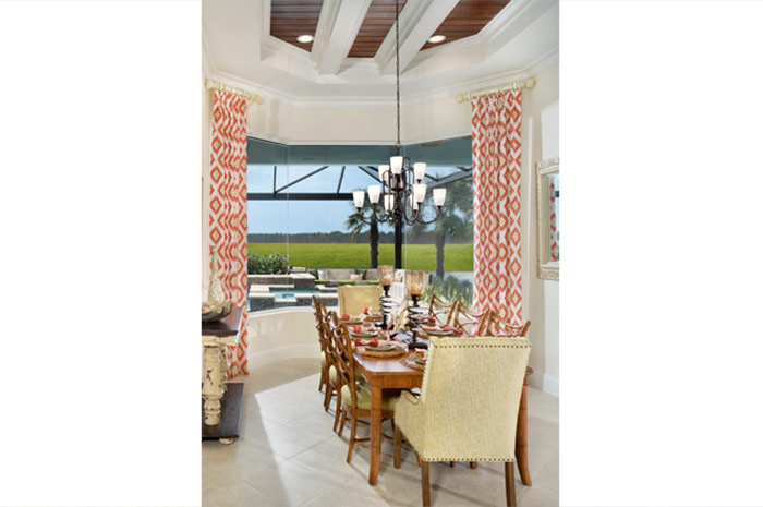 Large dining room perfect for dinner with friends or family (Iris shown)