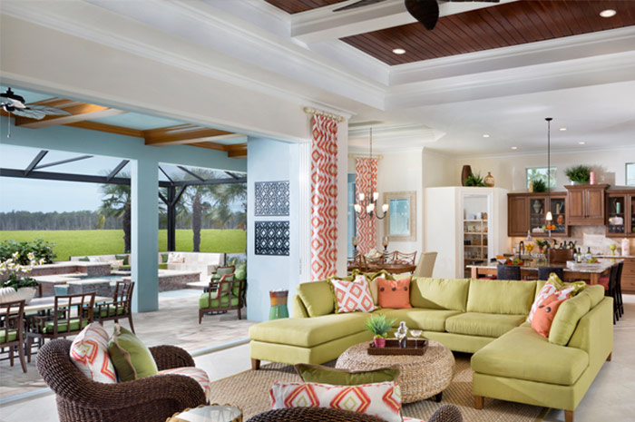 Beautiful open floorplan with adjoining screened lanai (Iris shown)