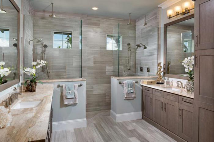 Spa-style master bathroom (Tamarind Grande shown)