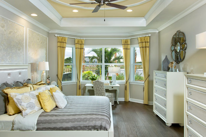 Master bedroom retreat with premium included features (Wisteria shown)