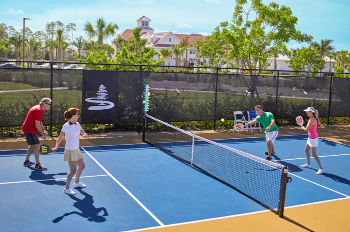 The Isles Club has both pickleball and tennis courts for residents' enjoyment