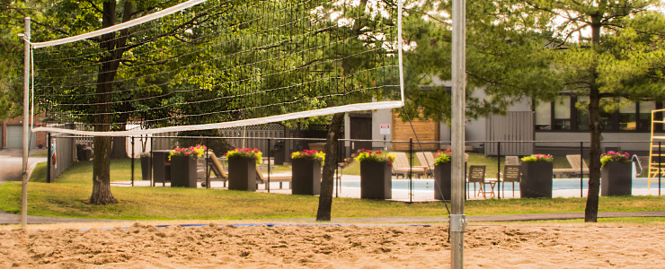 Navaho Apartments beach volleyball court