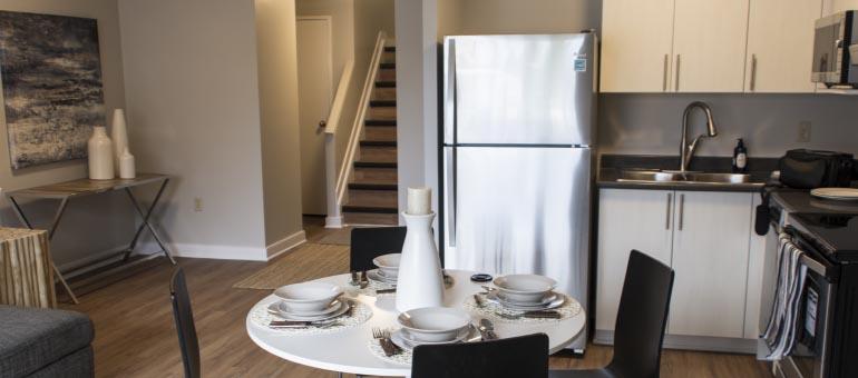 Kitchen available at Navaho Apartments