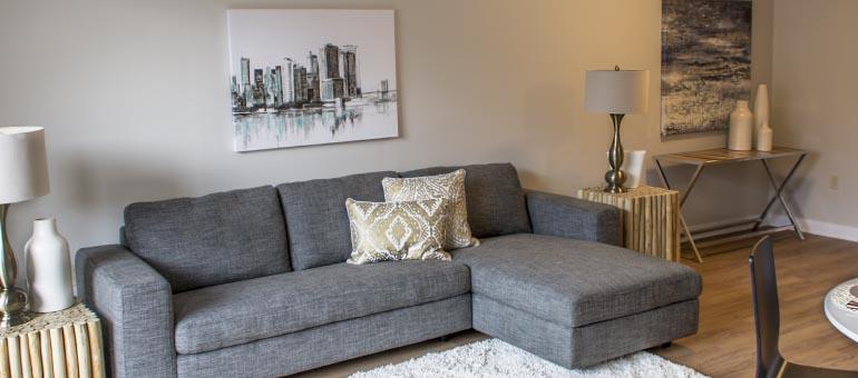 Living room at Navaho Apartments