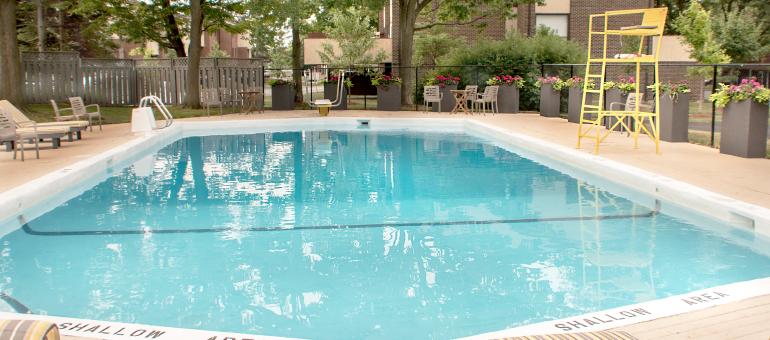 Pool at the Navaho Apartments
