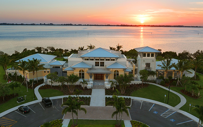 The waterfront Beach Club includes resort style amenities. Pool, spa, cabanas, and private sandy beach.