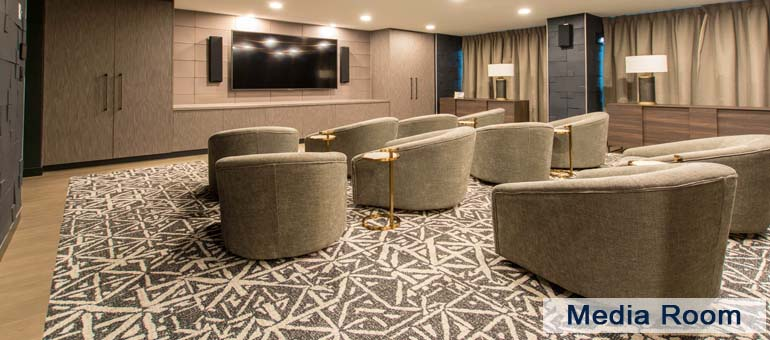 Media Room in Luxury Apartments For Rent in Yorkville Downtown Toronto