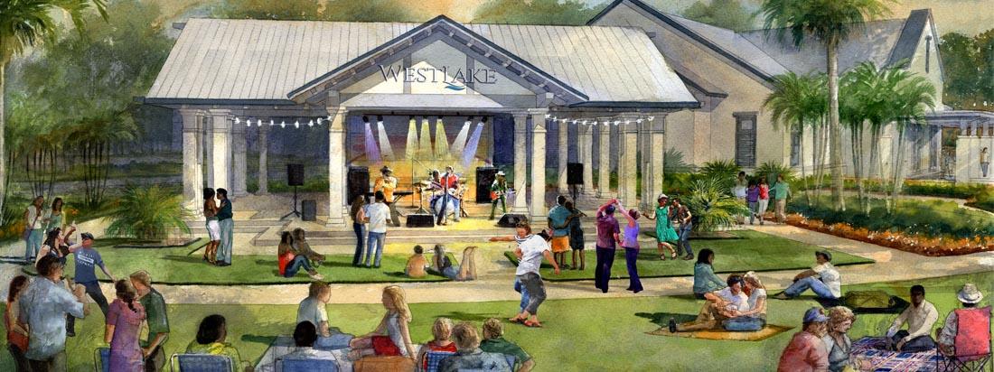 Westlake concert stage rendering