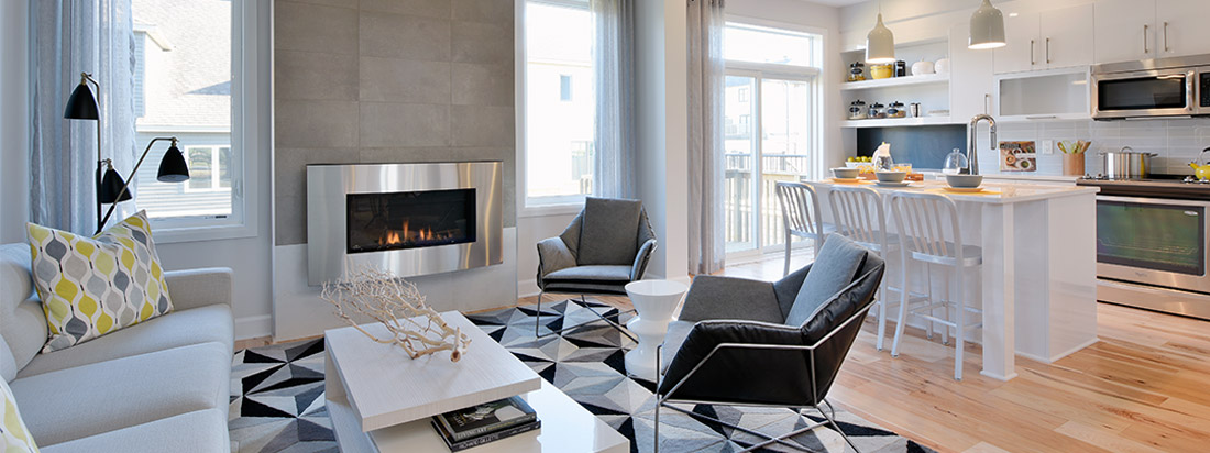 Living Room At Avalon Encore Home in Orleans Ottawa