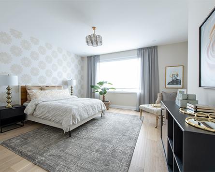 Primary Bedroom of the Killarney Single Family Home Arcadia Kanata