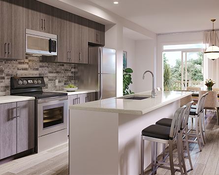 Kitchen, Urban Townhome, Avalon