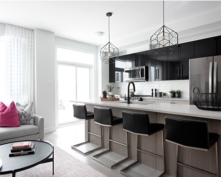 Kitchen in the Haven Executive Townhome at Harmony Barrhaven